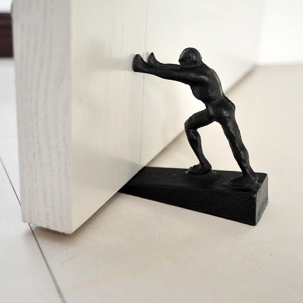 Strong Man Iron Doorstop