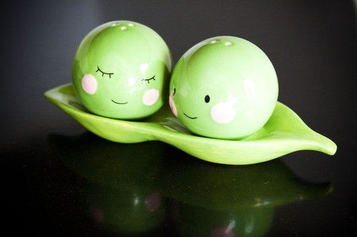 Magnetic Peas Salt and Pepper Shakers