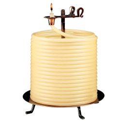 Self-Extinguishing Coil Candle