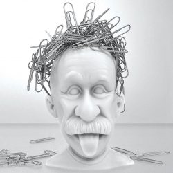 Albert Einstein Paper Clip Holder