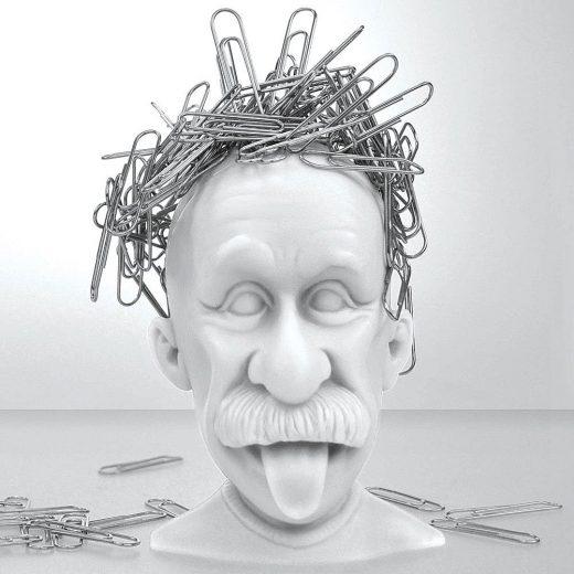 Albert Einstein Paper Clip Holder
