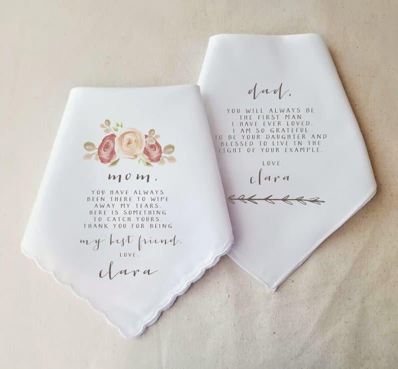 Personalized Handkerchief Anniversary Gift