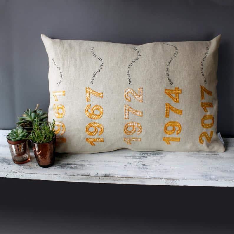Year Wise Anniversary Cushion