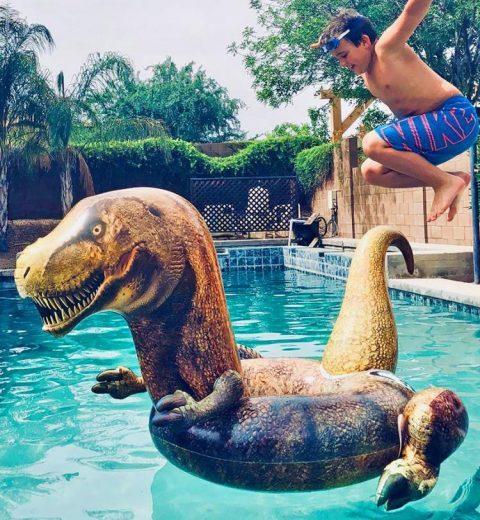 Dinosaur Inflatable Pool Float