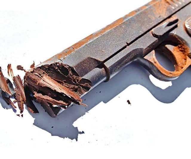 Pistol Shaped Chocolate