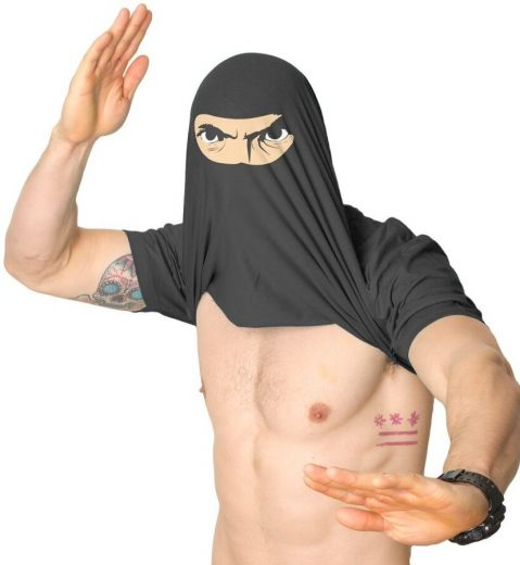 Ninja Disguise Flip Tshirt