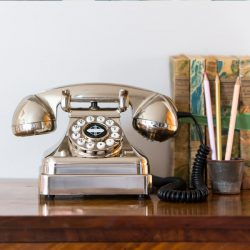 Vintage Chrome Telephone