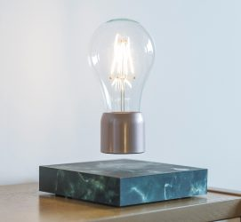 Levitating Lamp Black Marble