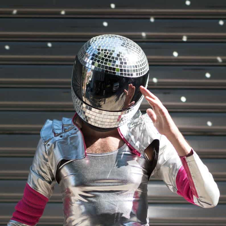 Shiny Disco Helmet
