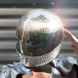 Shiny Disco Helmet