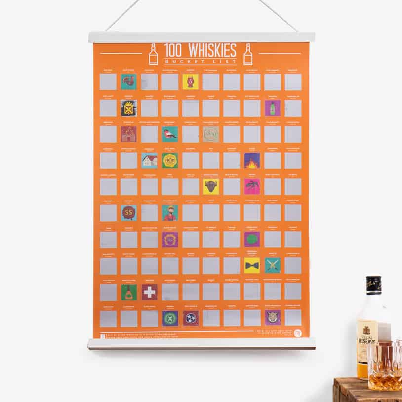 Whiskies Scratch Poster