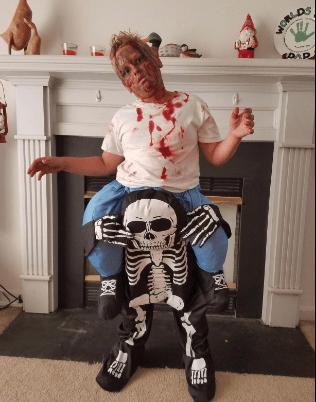 Funny Halloween Piggyback Costume