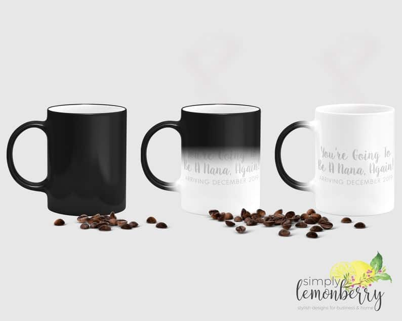 Pregnancy Announcement Color Changing Coffee Mug