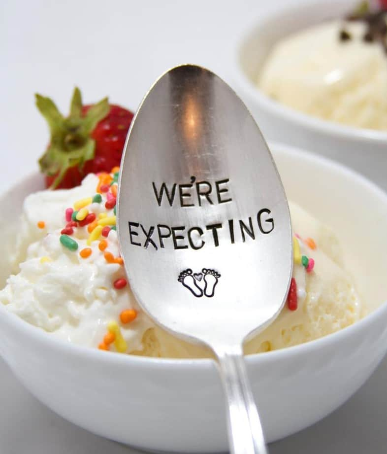 Pregnancy Announcement Spoon