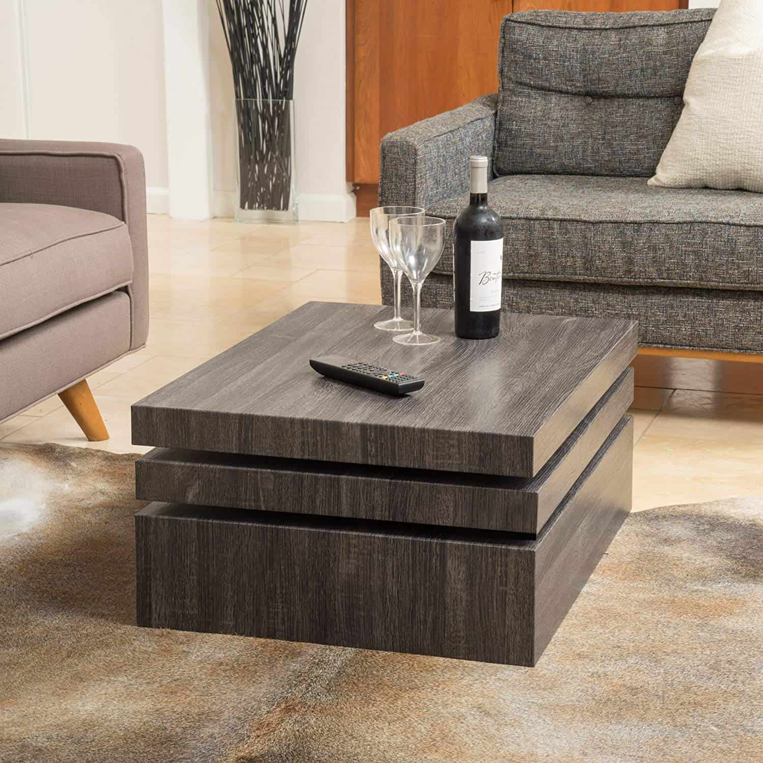 Square Rotating Coffee Table