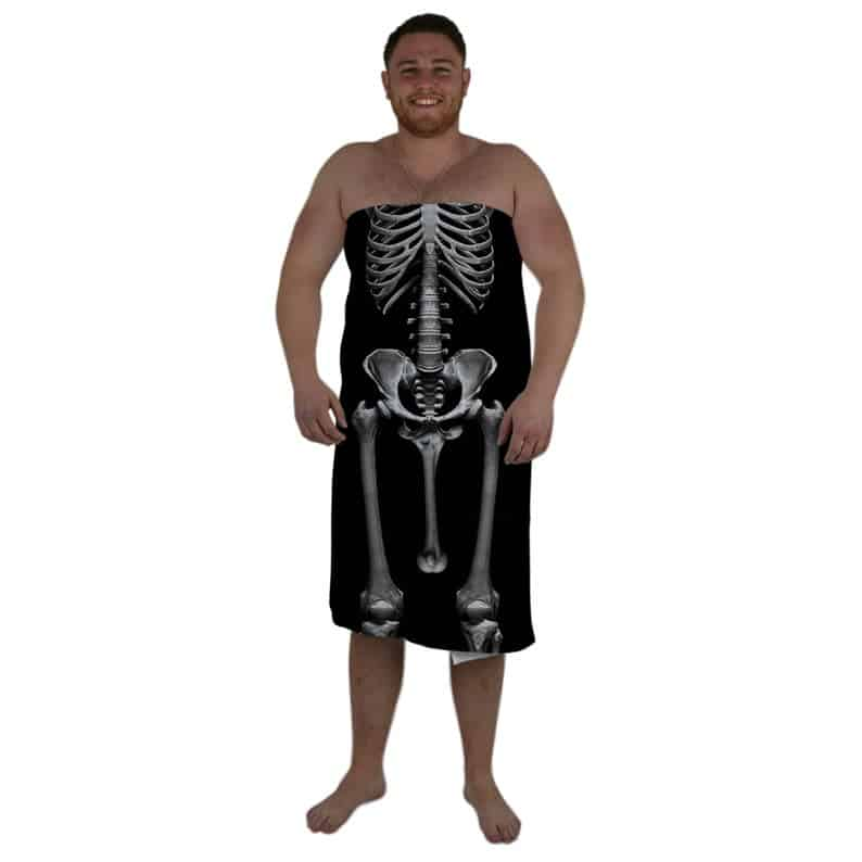 Funny Skeleton Beach Towel