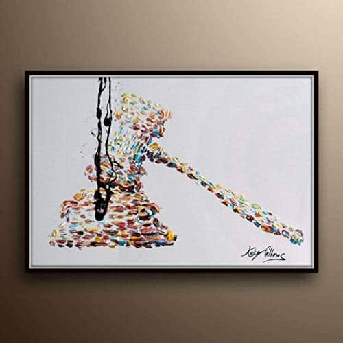 Gavel Art Oil Painting