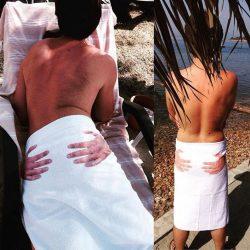 Hands-on Butt Beach Towel