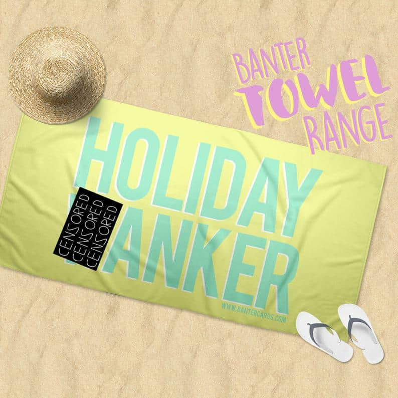 Naughty Beach Towel