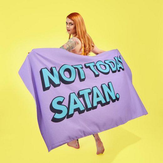 Not today Satan Beach Towel