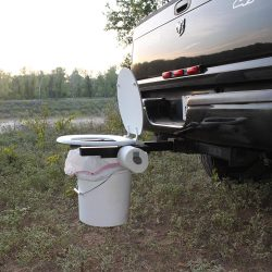 Hitch Portable Toilet Attachment
