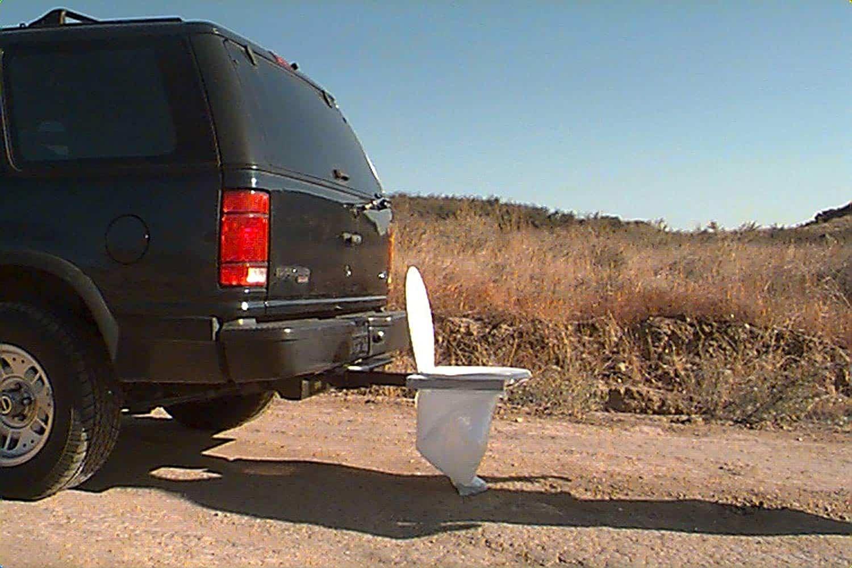 Hitch Portable Toilet Attachment