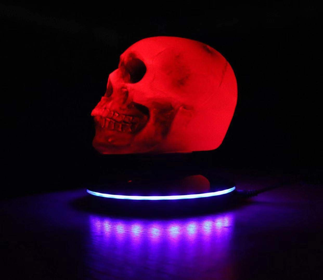Magnetic Levitating LED Skull