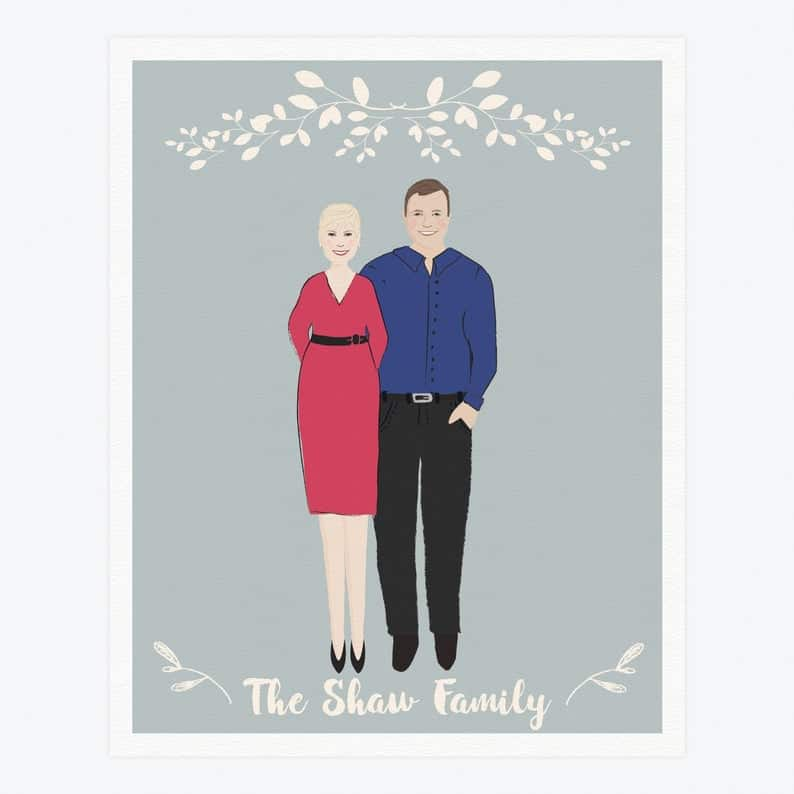 Personalized Parent Portrait Gift 3