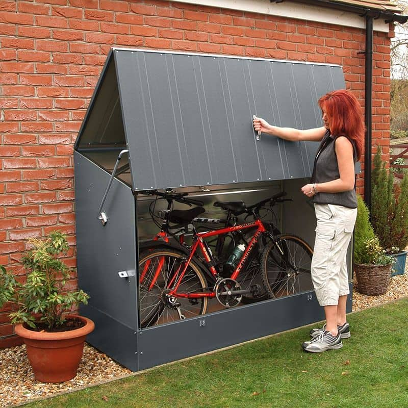 Secure Anthracite Bike Storage Shed