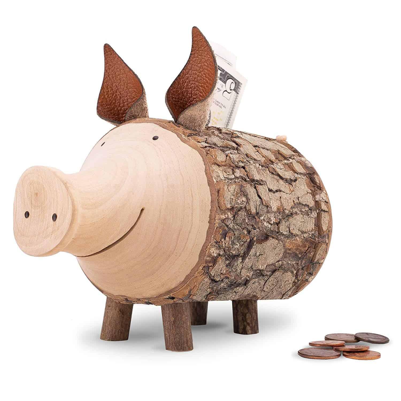Wood Art Piggy Bank