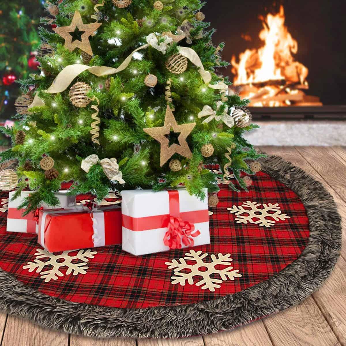 Buffalo Plaid Christmas Tree Skirt