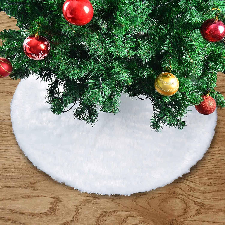 Furry Christmas Tree Skirt