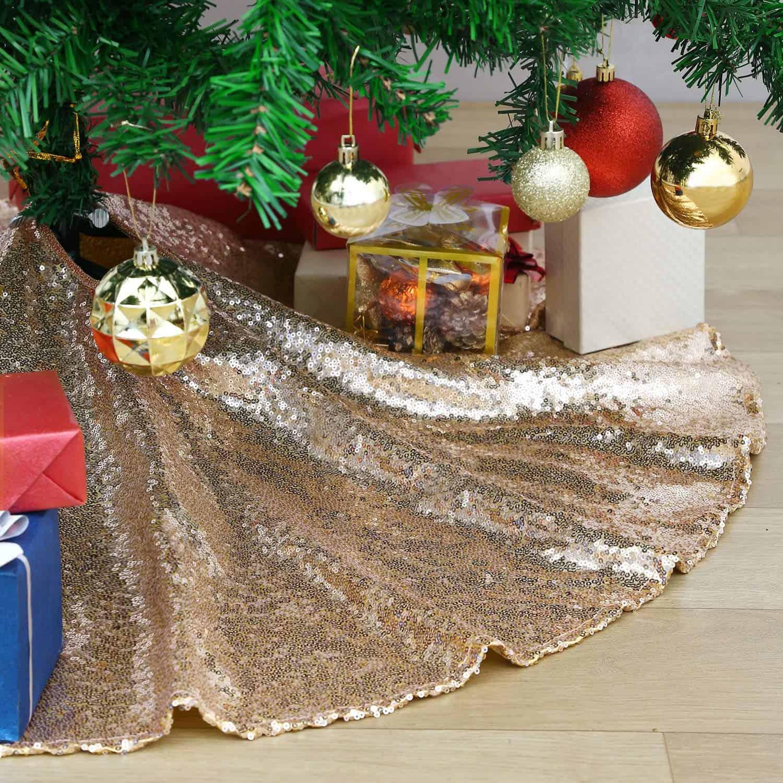 Golden Shade Christmas Tree Skirt