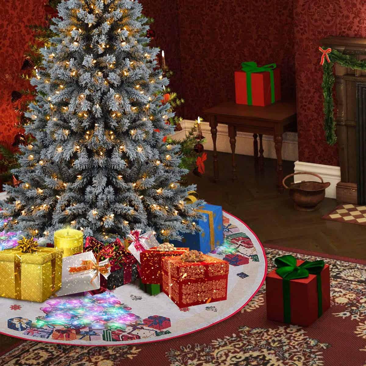 LED Christmas Tree Skirt