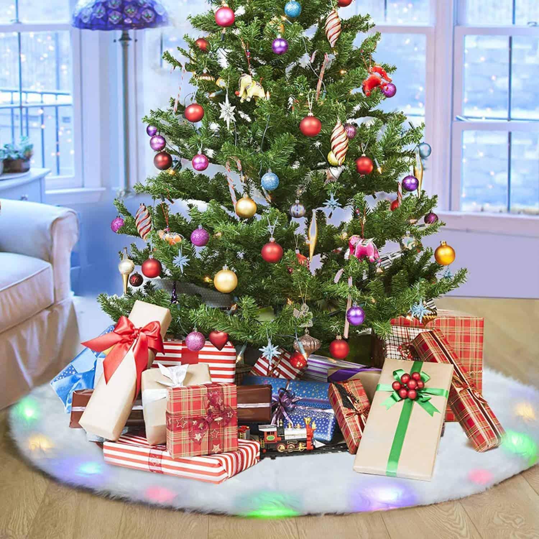 Lightning Christmas Tree Skirt