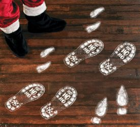 Santa Footstep Decals