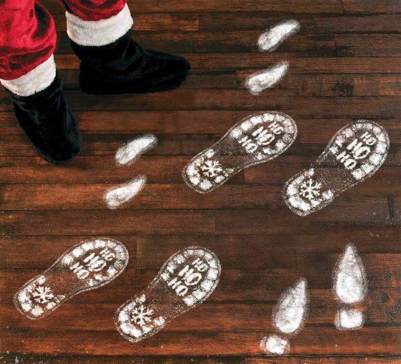 Santa Footstep Decals