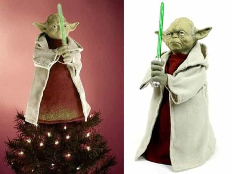 Yoda Christmas tree topper