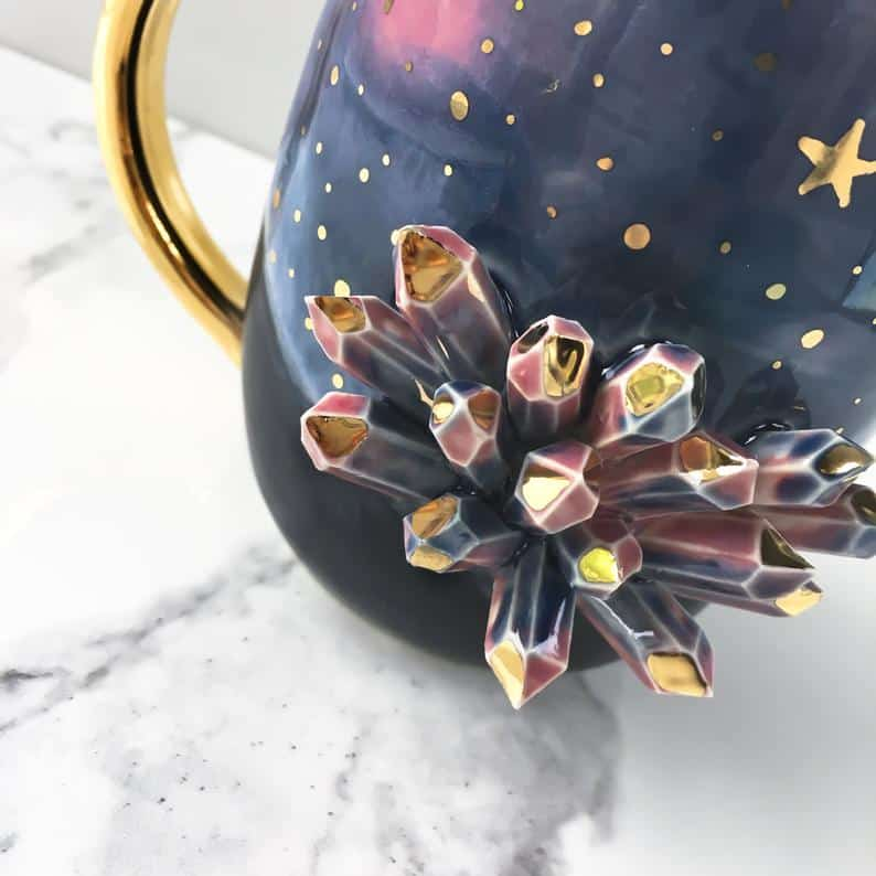Gold and Galaxy Coffee Mug