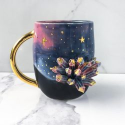 Gold and Galaxy Coffee Mug