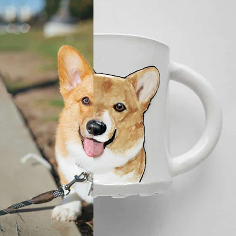 Carved Pet Portrait Mug