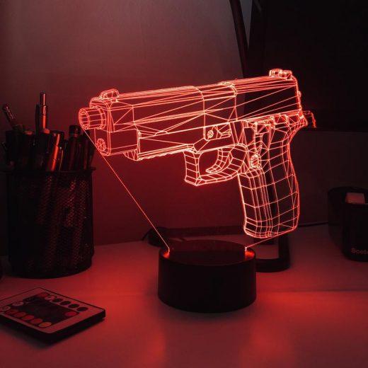 3-D Gun Optical Illusion