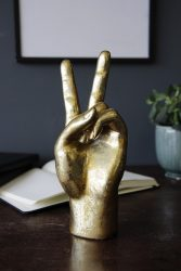 Gold Peace Hand Table Top