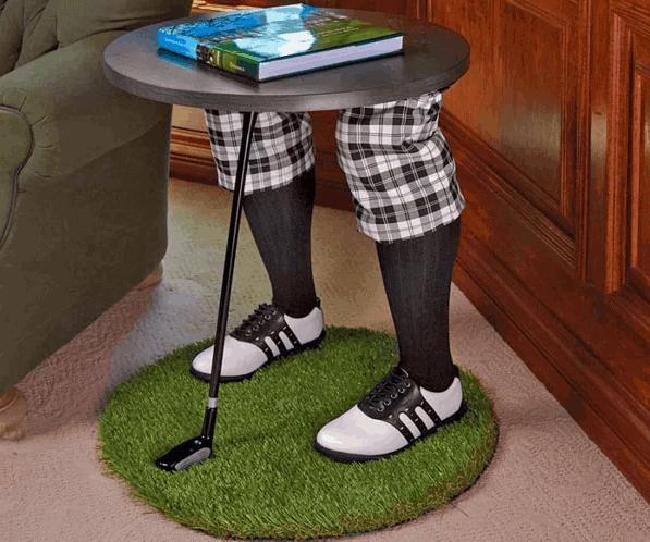 Golfer Legs Side Table