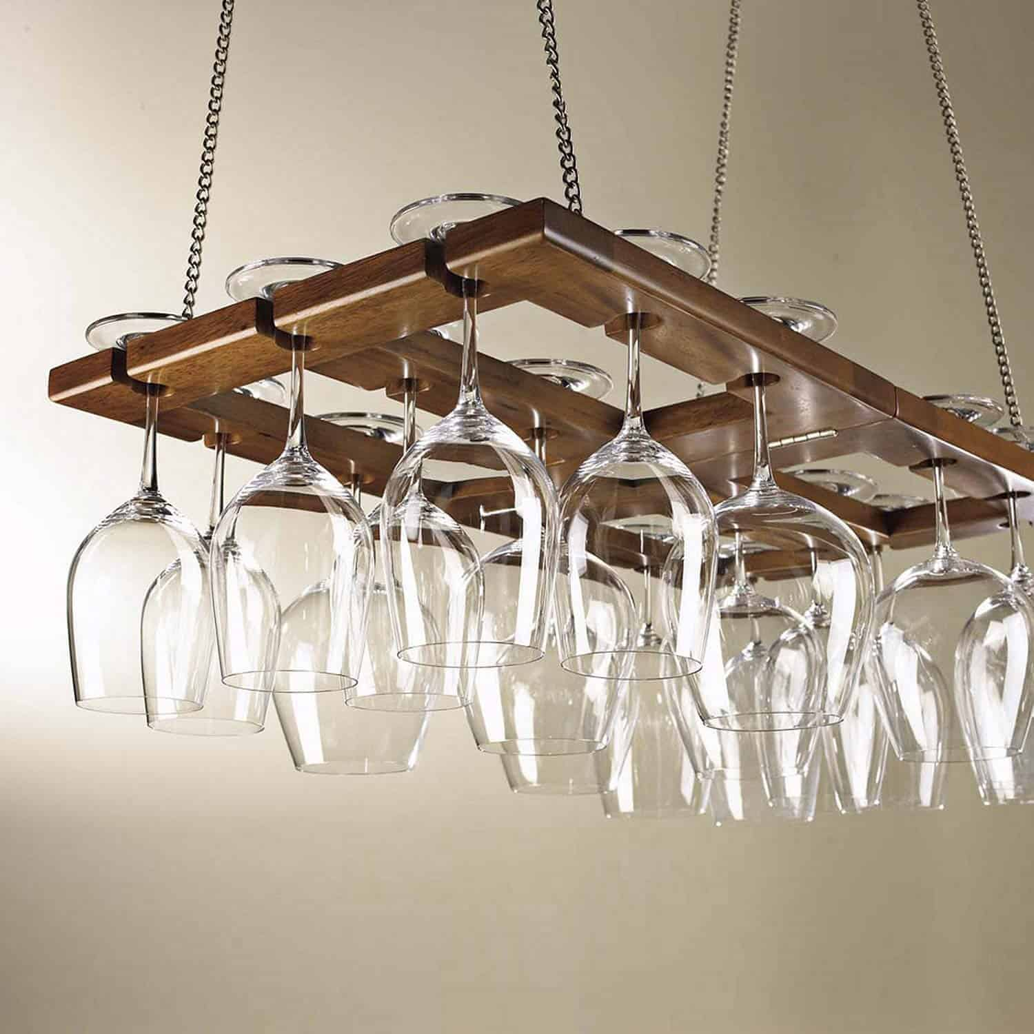 Ceiling Mounted Hanging Wine Glass Rack