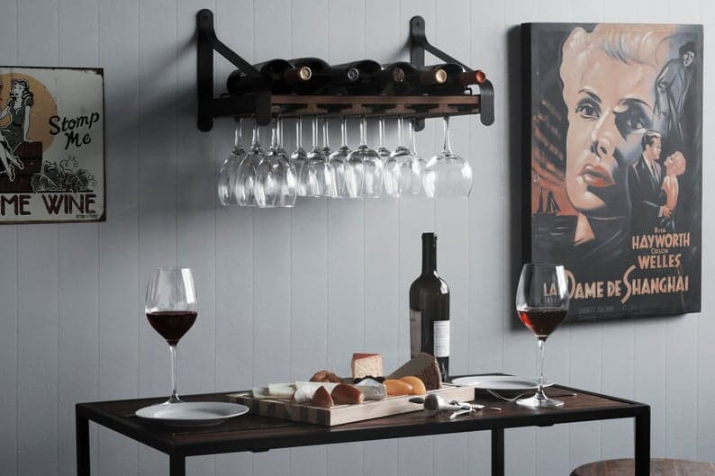 Classy Wall Mounted Wooden Wine Rack