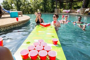Inflatable Beer Pong Table for Pool