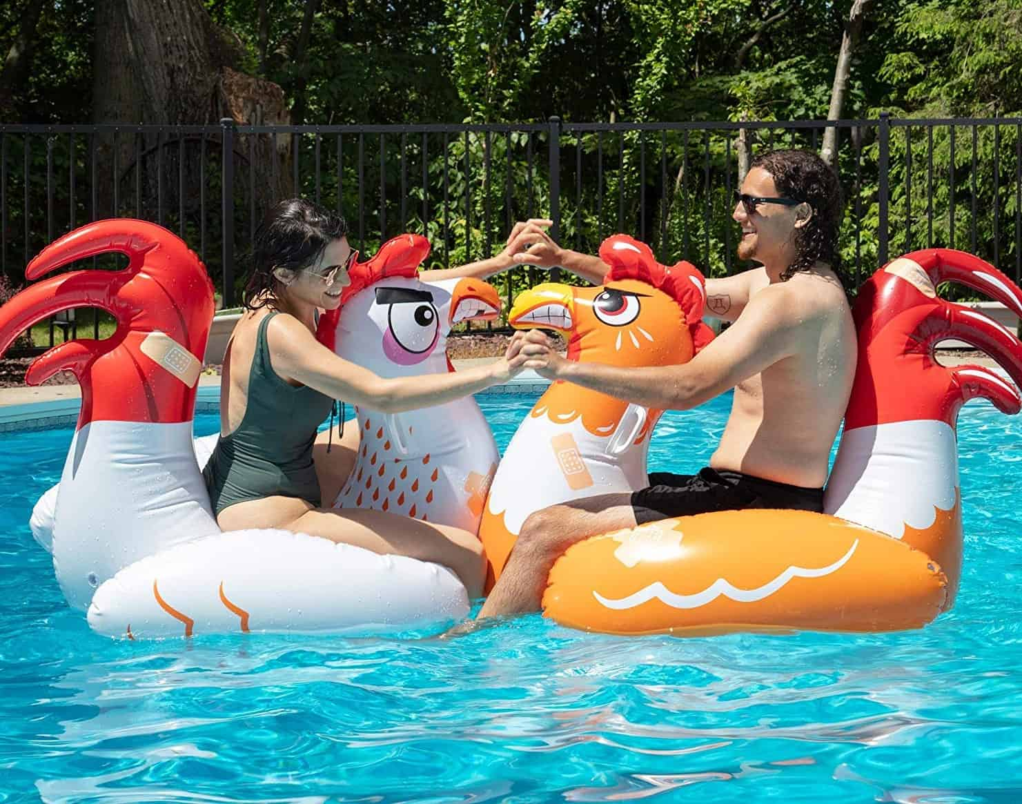 Inflatable Chicken Fight Pool Float