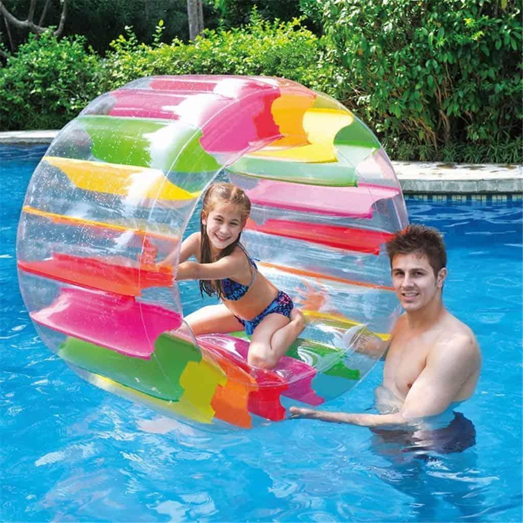 Inflatable Water Wheel Roller