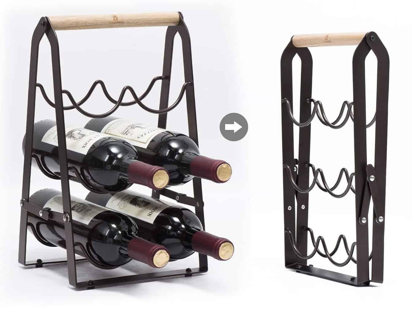 3-Tier Classic Tabletop Wine Rack